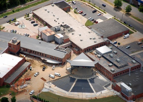 Aerial view of NC Music Factory