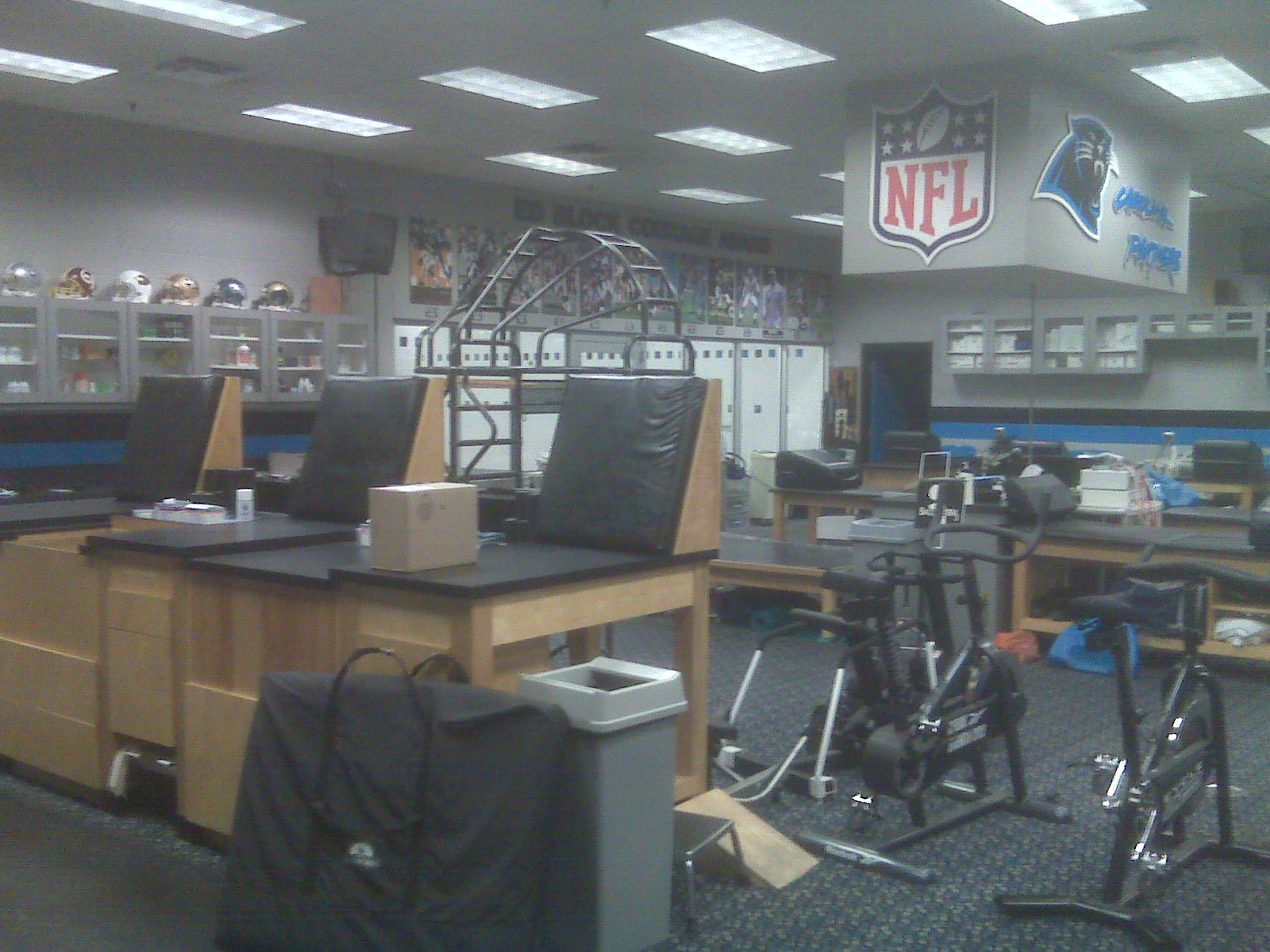 The Panthers Training Room
