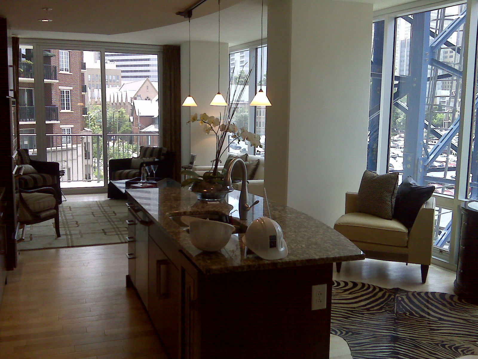 Completed 4th floor unit at The Vue condominiums