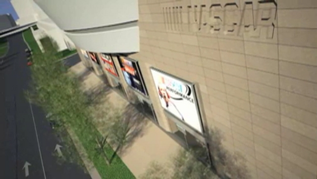 Fly-through video of future NASCAR Hall of Fame