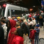 Light rail after Bobcats game
